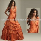 Ro0300 Graceful Beaded Cap Sleeve Taffeta Sexy Bridesmaid Dress