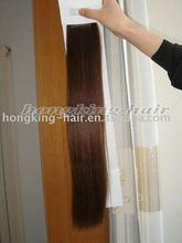 Dark brown clip-in hair extensions 100% human hair