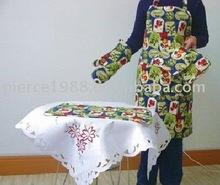 2012 promotional kitchen set new customised style oven glove