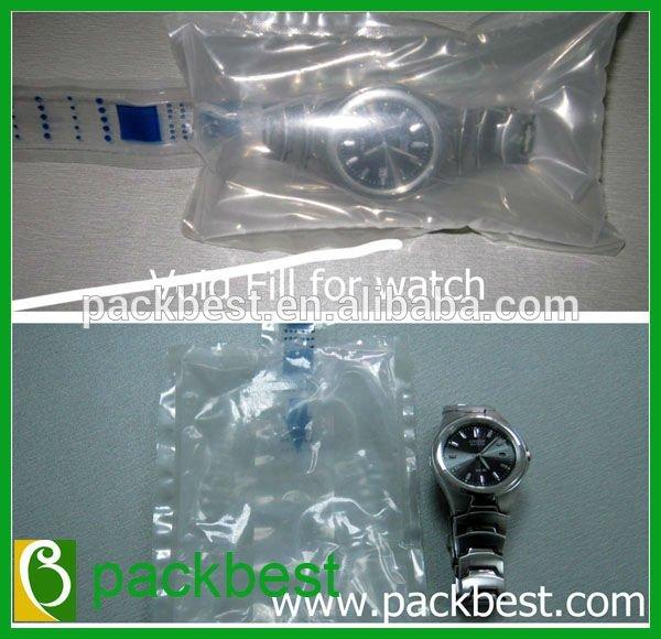 De la bolsa vacío - llenar bag in bag embalaje para el reloj