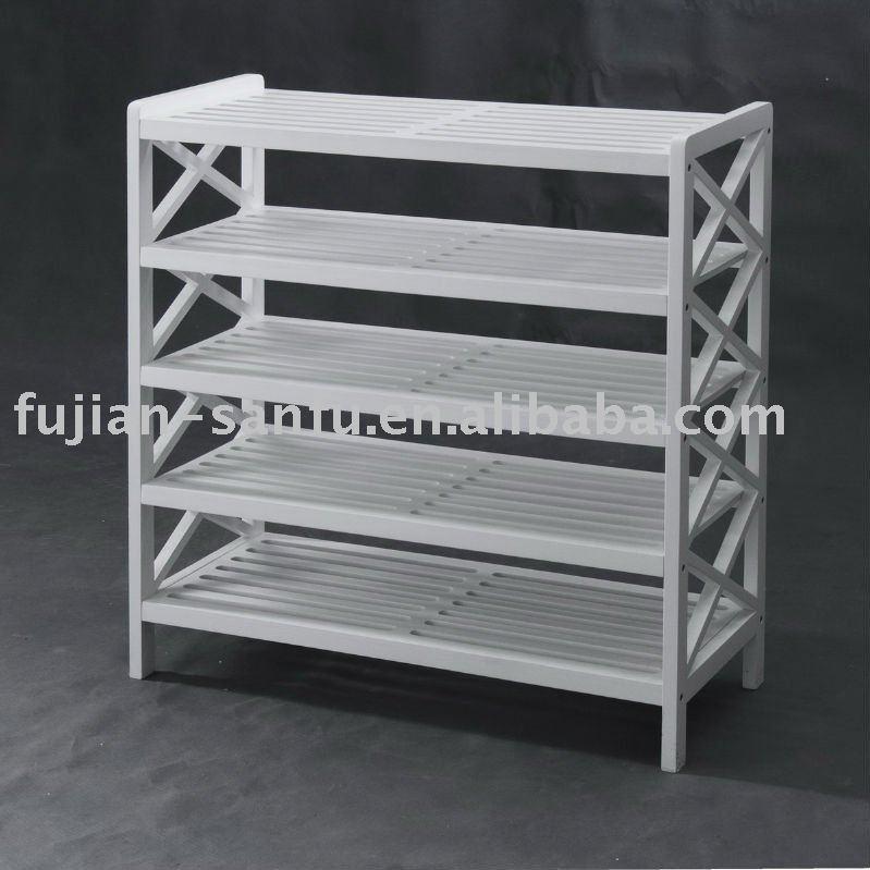 white shoe racks