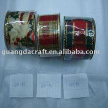F2.5*100Y ashion Christmas ribbon Christmas ornament