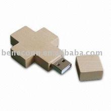 Wooden cross usb pen driver 4gb/8gb