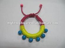 2012 fashion fairy woven bracelets with bead