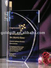 Buena calidad y nice looking embroma la trofeo cristal personalizado venta al por mayor