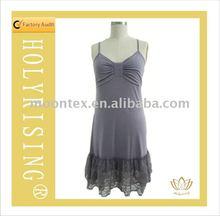 polyester&viscose&spandex women's nightwear
