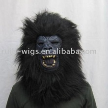 Real rubber gorilla mask of full head size for party occasion