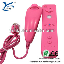 The hot sell for wii remote for wii nunchuck combo/game joystick five colors