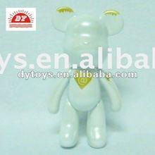 5 1/2 inch plastic shining white angel bearbrick for valentine gift