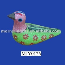 Simple animated colorful ceramic dove for home decor
