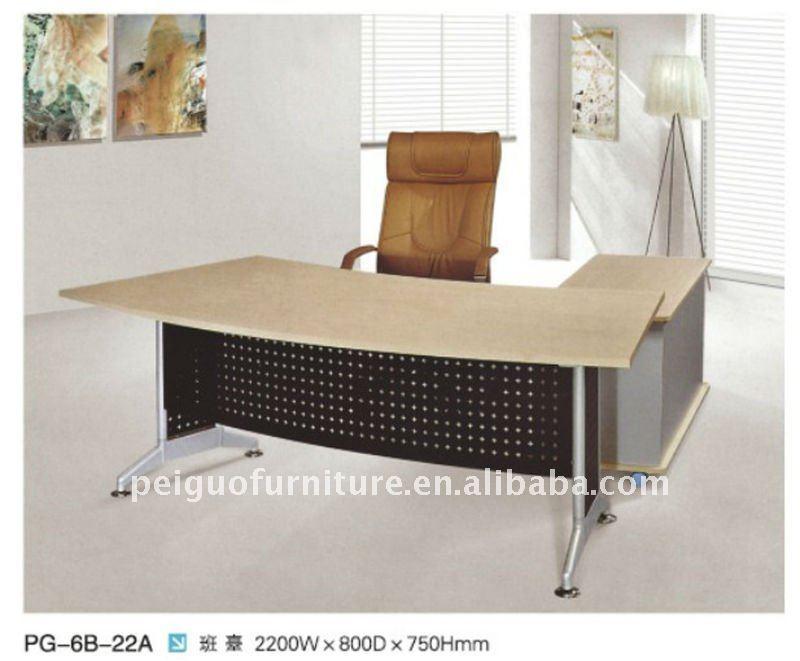 caliente venta nuevo estilo de muebles de oficina de escritorio mdf