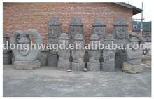 korea style figure stone sculpture