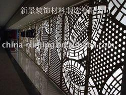 CNC perforated decorative metal wall panels