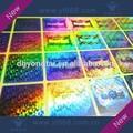holograma de arco iris láser etiqueta de seguridad con un diseño personalizado