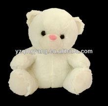 30cm white stuffed plush bear toy