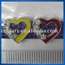 Heart shaped Charms for bracelets,slider letters