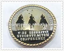 vernice al forno medaglia personalizzata con placcatura in oro