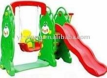 Children outdoor plastic slide and swing