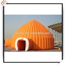 2012 orange inflatable dome tent
