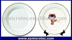 Coated Plate - Gold Rim sublimation blank plate