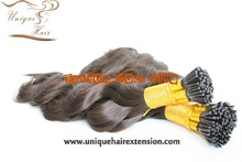 Dark brown fusion i tip hair extension