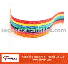 Colorful stripe polyster webbing