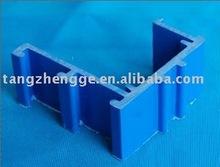 rigid blue PVC Heterotype Profile /pvc extrusion profiles
