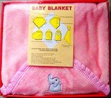 BABY WOOL PINK BLANKET