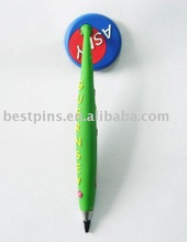 Magnetic pen with model logo