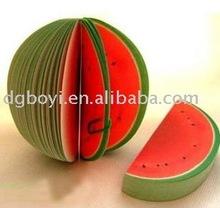 fruit memo pad sticky memo pad,watermelo shape sticky notes