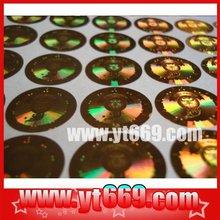 Custom dot matrix hologram light printing/ holographic sticker/ laser hologram