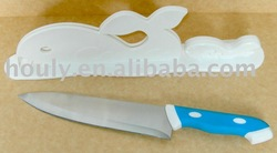 Houly Whale Stainless Steel Knives w/ Rack Set