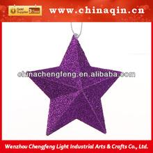newest christmas glitter paper star ornament