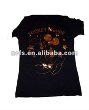 2012 fashion foil printed 100% cotton children t shirt
