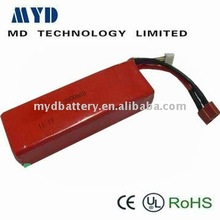 High discharge and high capacity rechargeabe battery for aeromodelling battery