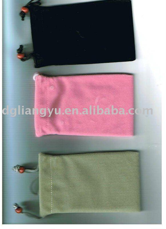 2012 fashionable velvet mobile phone bag