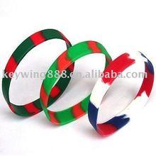 Custom Mixture thin silicone wristband with logo