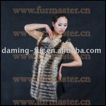 Black cashmere & silver fox fur vest/sense of hierarchicy/luxury & moving/soft & fluffy/Irresistible fashion