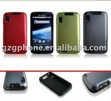 mobile phone silicon + aluminium case for Motorola MB860