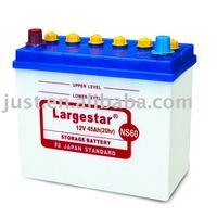Dry car battery NS60 12V 45Ah best for car