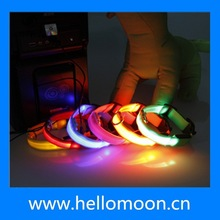 Colorful LED UBS Rechargeable Dog Collars