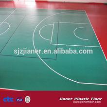 Maple Wood Vinyl Flooring Basketball Covering