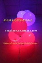 2012 hot selling High quality inflatable latex advertising led balloon light