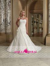 Strapless appliqued taffeta a line robe de mariage 211254