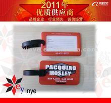 2012 3D design soft pvc luggage tag