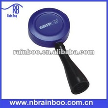 Top quality new round shape plastic retractable lanyards id badge holder for promotional gift