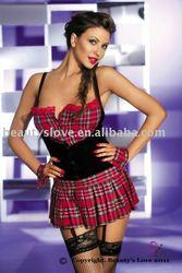 Fashion checkered partywear school girls sexs photo