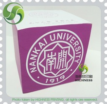Memo block one color four sides printing for promotion