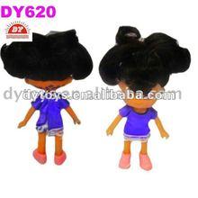 5.2 pulgadas de plástico mini muñeca de la muchacha de la figura, rojo de pvc zapatos de muñeca, ropa de la muñeca