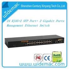 24 RJ45+2 SFP port+ 2 Gigabit ports managed ethernet switch (TH-126G )